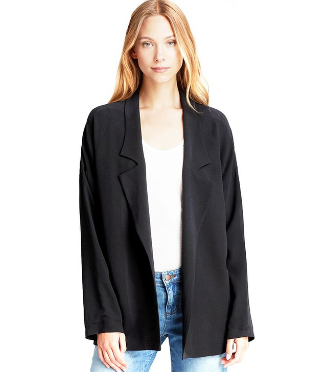 Eileen Fisher Silk Boyfriend Blazer