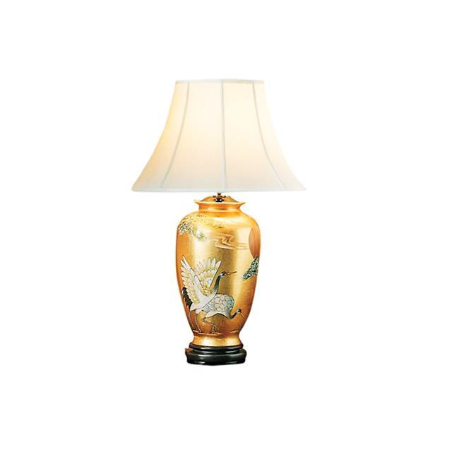 Gump's Gold Crane Lamp