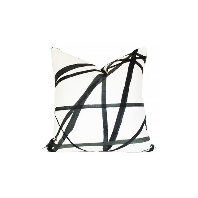 Kelly Wearstler Channels Ebony & Ivory Pillow