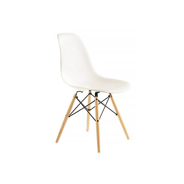 Eames Molded Plastic Dowel-Leg Side Chair