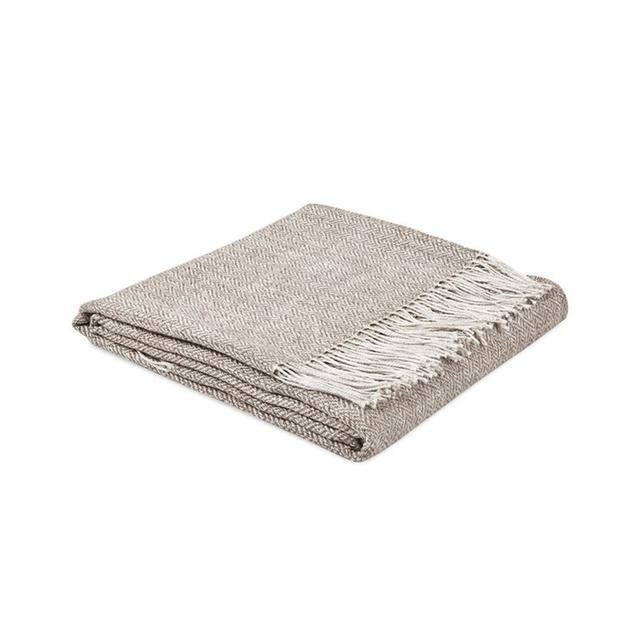 Zara Home Linen and Herringbone Wool Throw