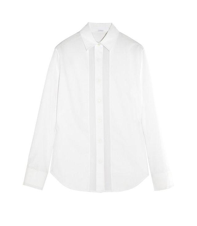 Alexander Wang Voile-Trimmed Cotton-Poplin Shirt