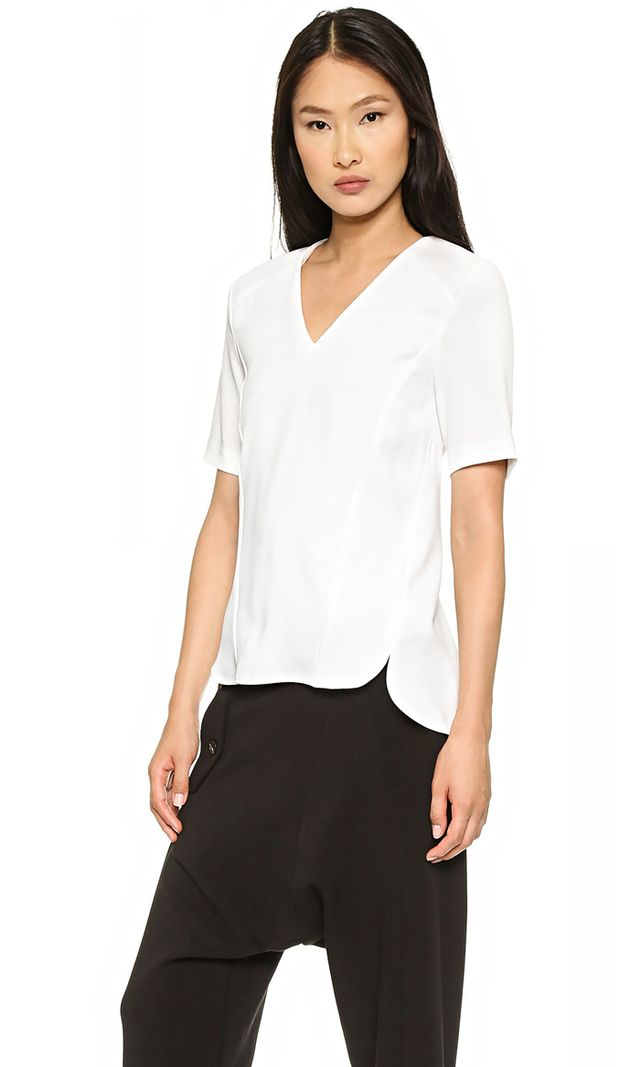Whistles Allen Detail Crepe Top