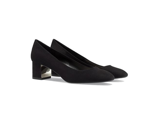 Zara Court Metal Plate Heels