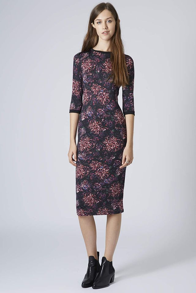 Topshop Romantic Floral Bodycon Dress