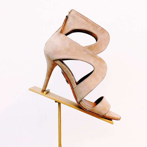 Aquazzura Cutout Noor Sandals