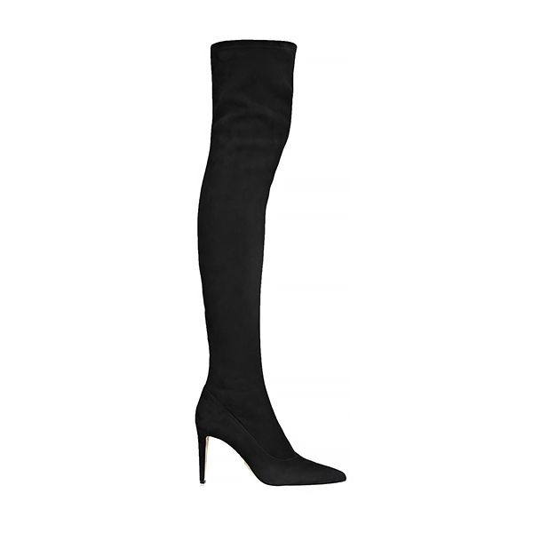 Sergio Rossi Stretch-Suede Over-The-Knee Boots