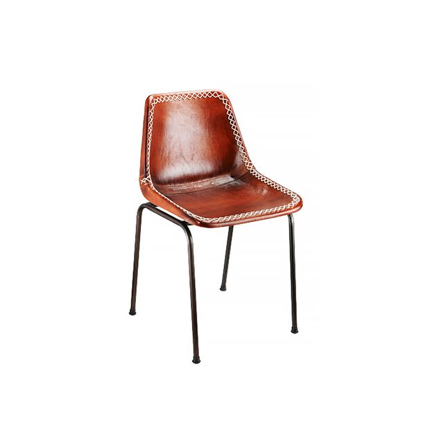 Rejuvenation Leather Schoolhouse Chair