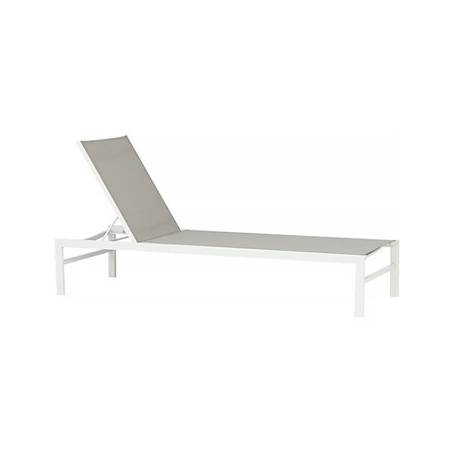 cb2 Idle Grey Sun Lounger