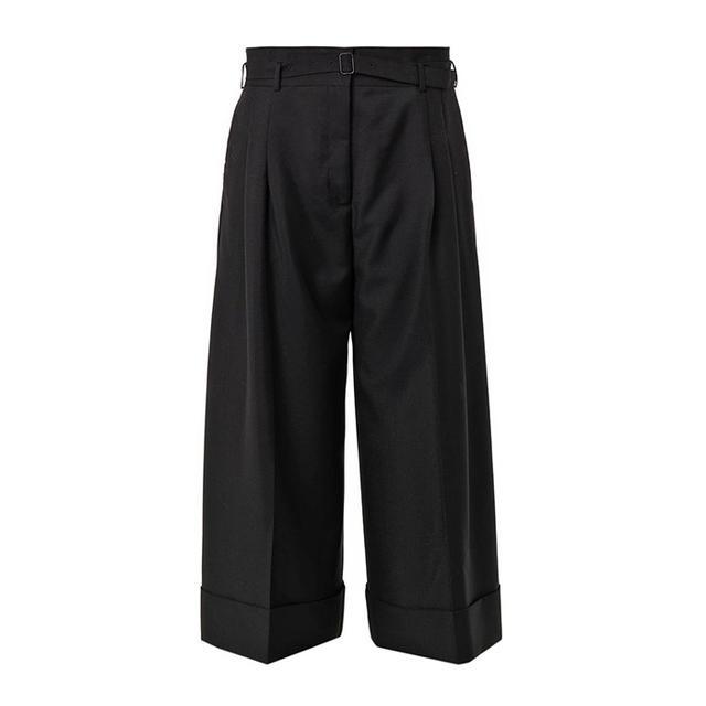 Acne Studios Habit Wide-Leg Cropped Trousers