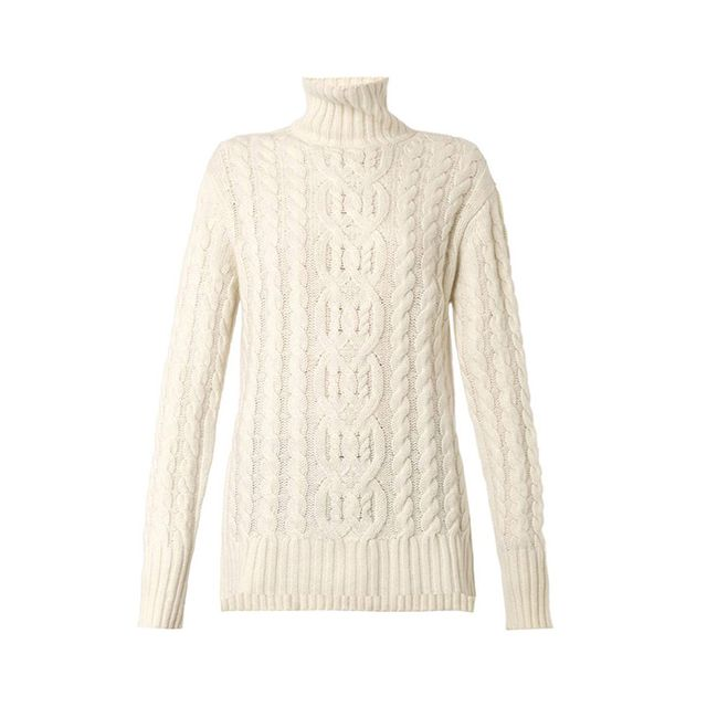 Freda Roll-neck Cable-Knit sweater