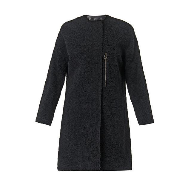 Balenciaga Shearling and Leather Coat