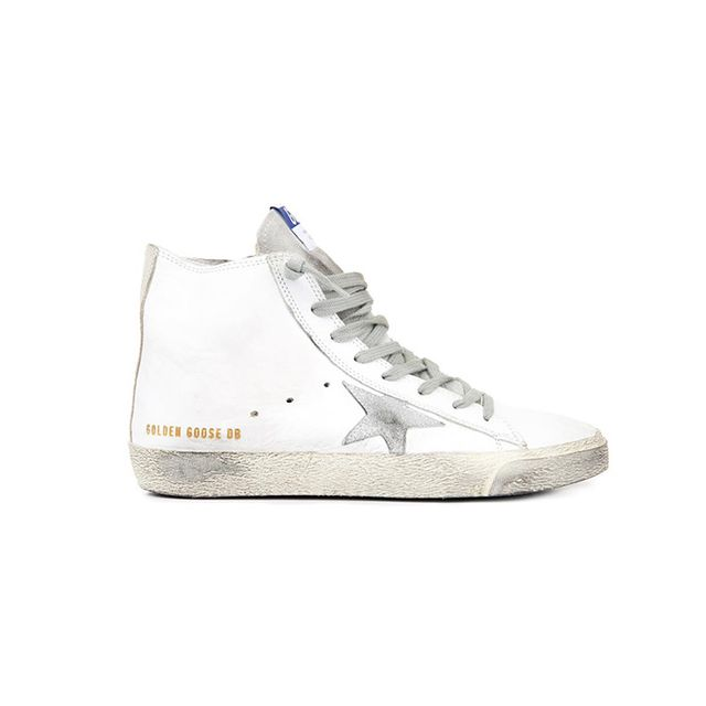 Golden Goose Deluxe Brand High-Top Leather Trainers
