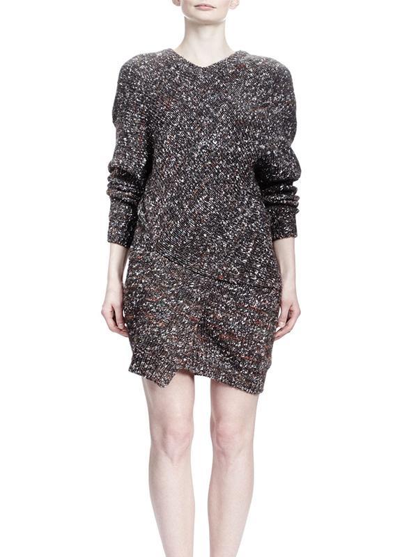 Stella McCartney Long-Sleeve V-Neck Chunky Sweaterdress