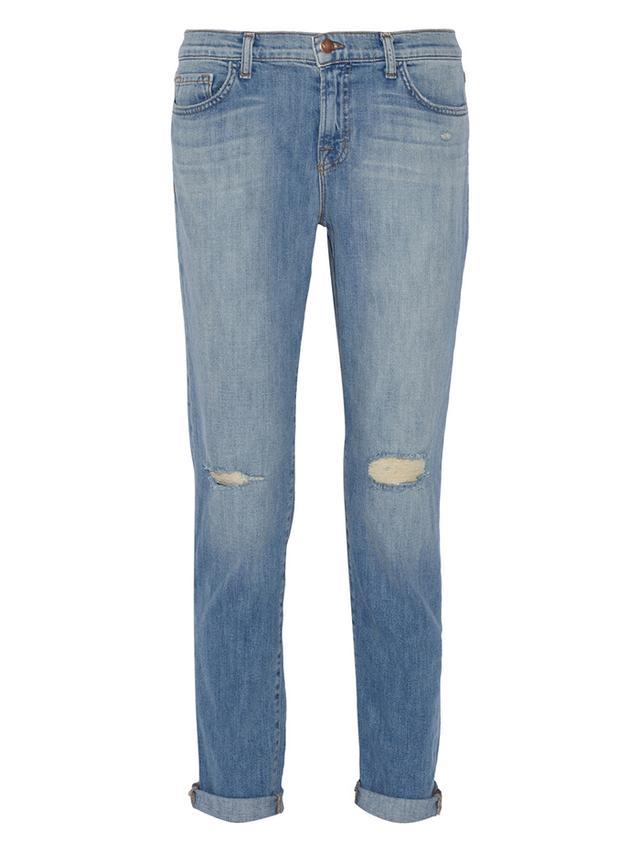 J Brand Jake Low-Rise Slim Boyfriend Jeans