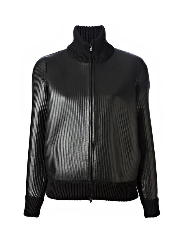 Maison Martin Margiela Ribbed Leather Jacket