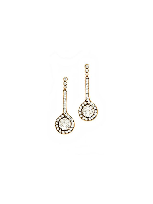 Oscar de la Renta Jeweled Drop Earrings