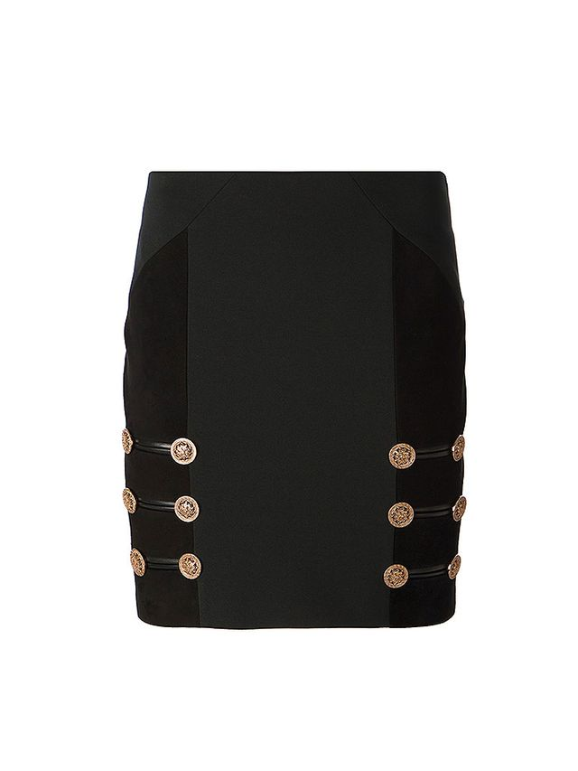 Versace Gold Button Mini Skirt