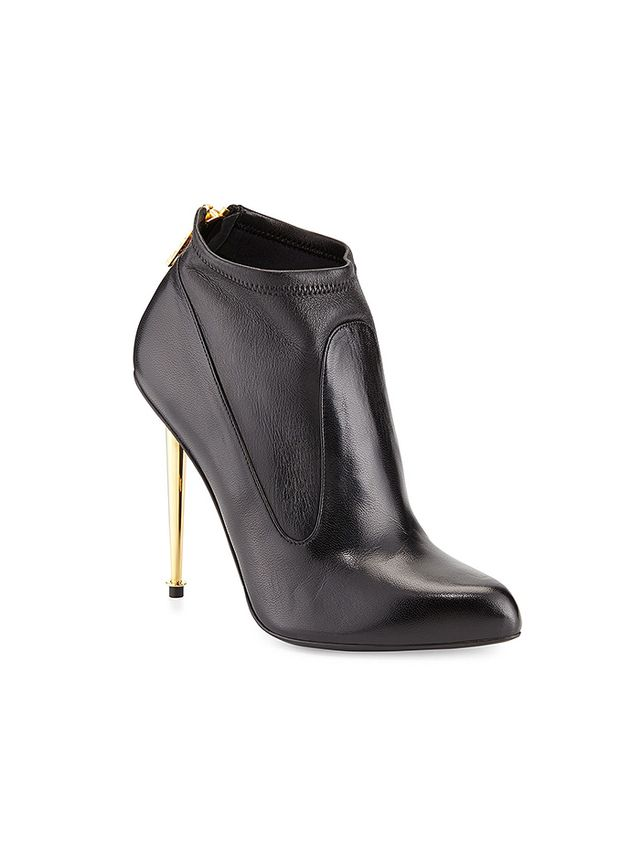 Tom Ford Napa Stretch-Panel Zip Booties