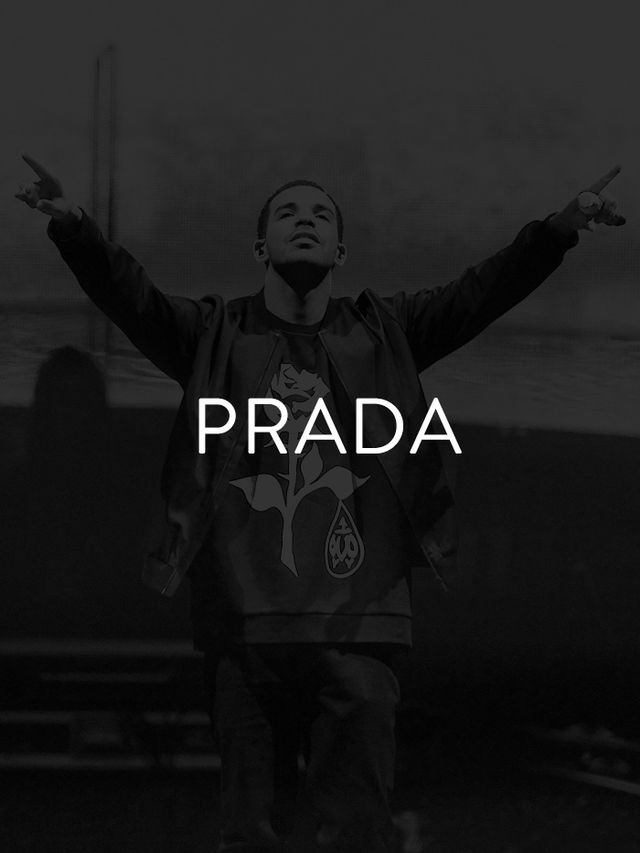 Prada's another label that's been heavily featured in rap and hip-hop songs over the past decade. It's easy to see why the designer pops up in Drake's smash hit...