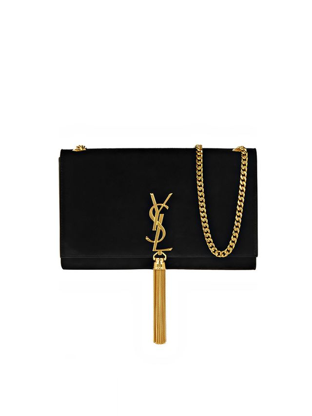 Saint Laurent Monogramme Suede Shoulder Bag