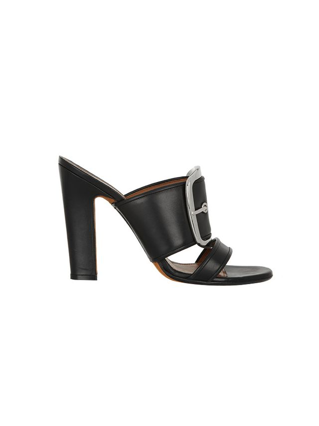 Givenchy Odia Oversized Buckle Mules