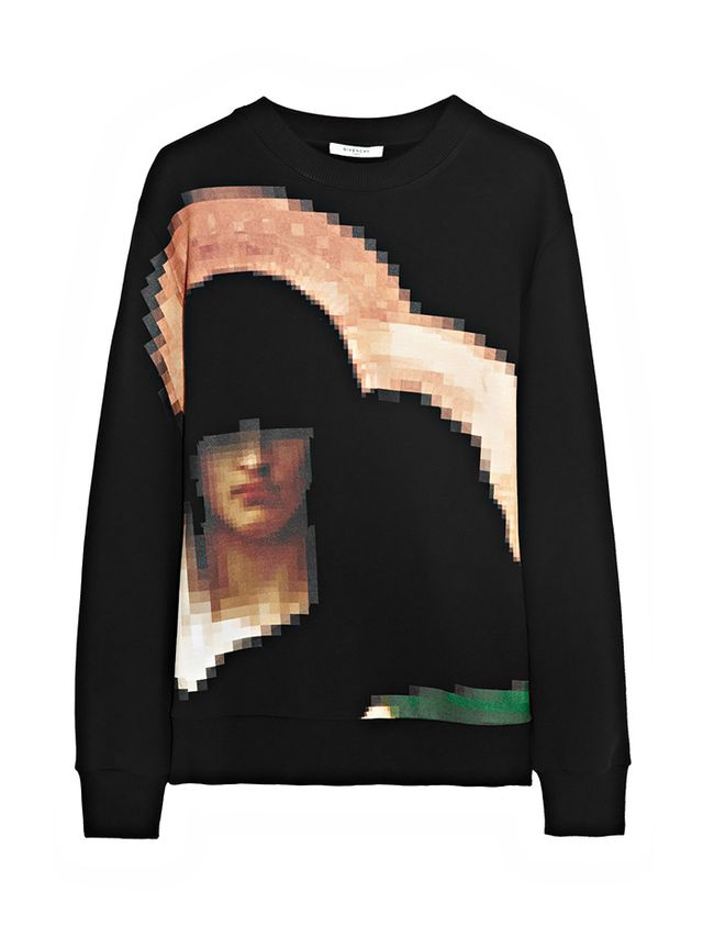 Givenchy Pixel Madonna Printed Cotton-Jersey Sweatshirt