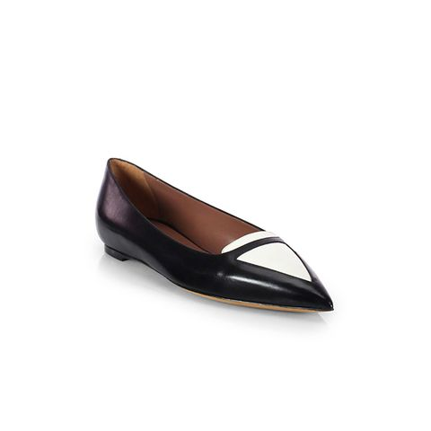 Alexa Bicolor Patent Leather Ballet Flats