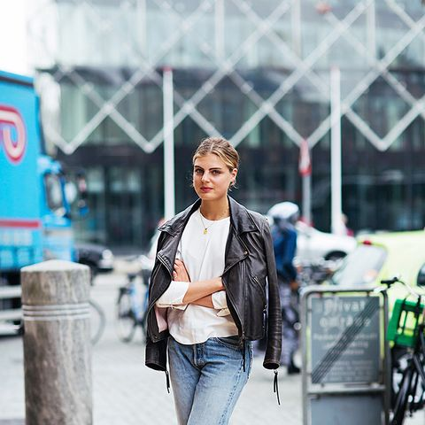 boyfriend jeans with moto jacket