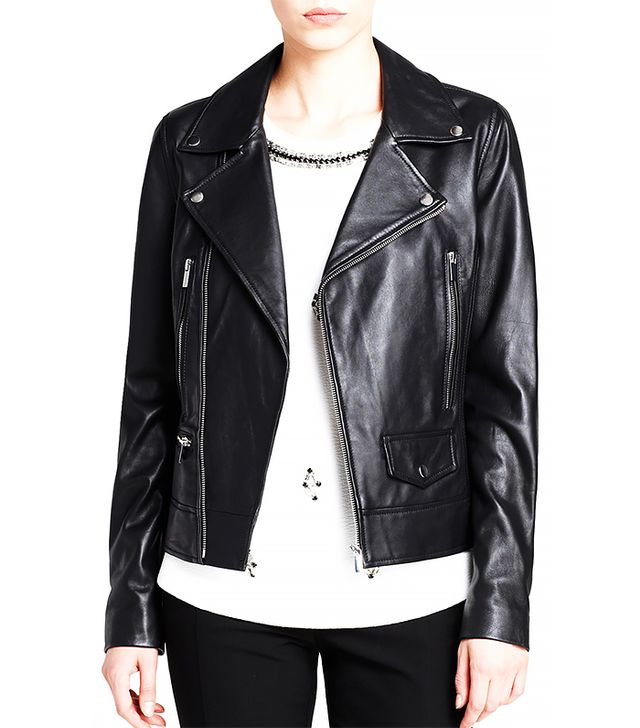 Dylan Grey Leather Moto Jacket