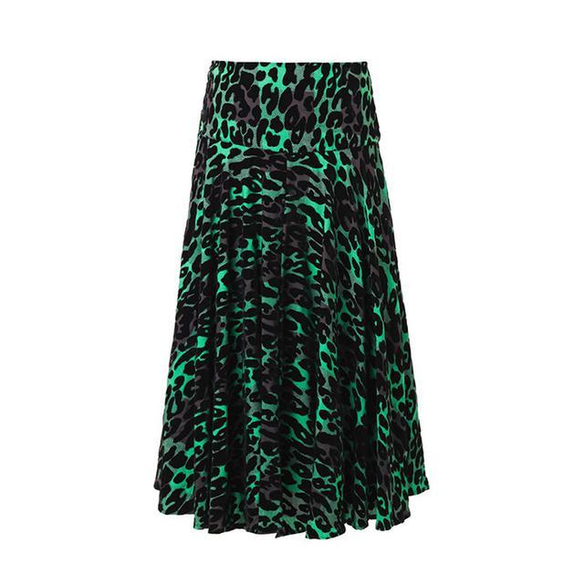 Preen Line Line Alba Leopard Flocked Skirt