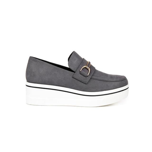 Stella McCartney Binx Faux-Suede Platform Loafers