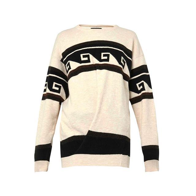 Isabel Marant Samuel Geometric Stripe-Knit Sweater