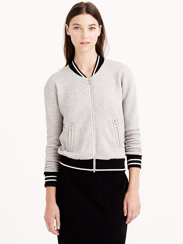 J.Crew Varsity Sweatshirt Jacket