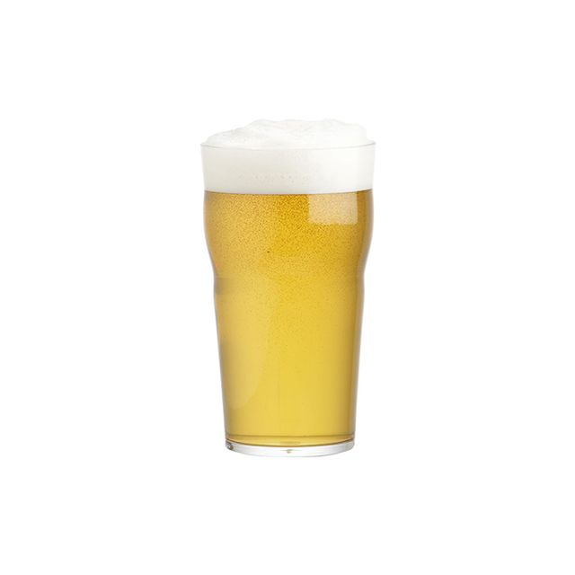 Crate & Barrel Acrylic Beer Glass