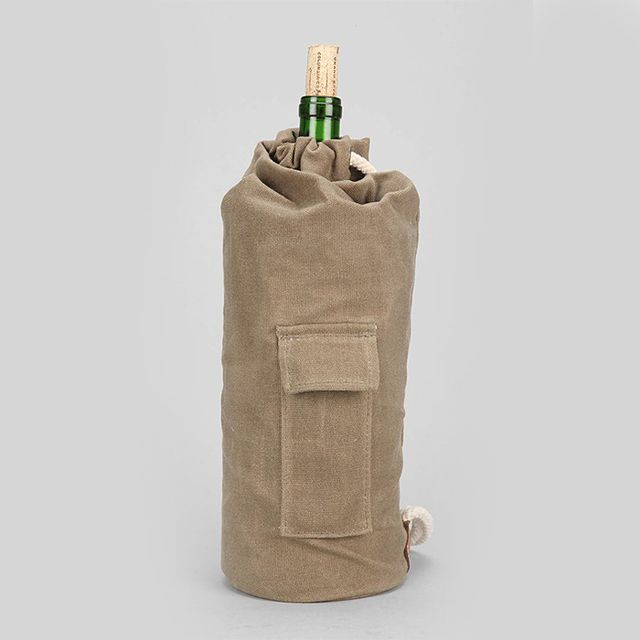 Henley Brands Canvas Wine Tote Bag