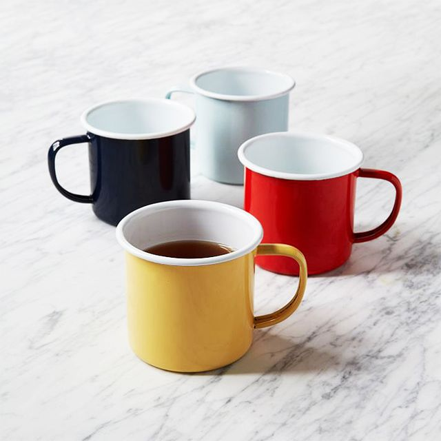 West Elm Coloured Enamel Mugs