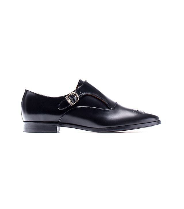 Massimo Dutti Brogued Antik Monk Shoes