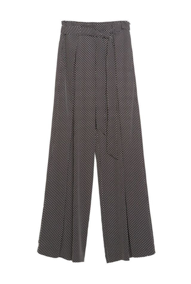 Zara Wide Leg Trousers with Small Dots