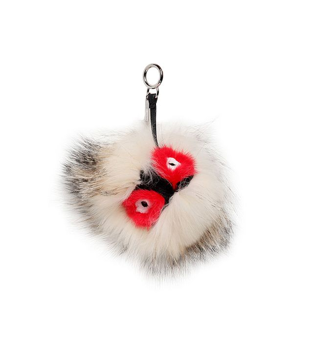 Fendi Silver Fox and Mink Fur Bag Charm