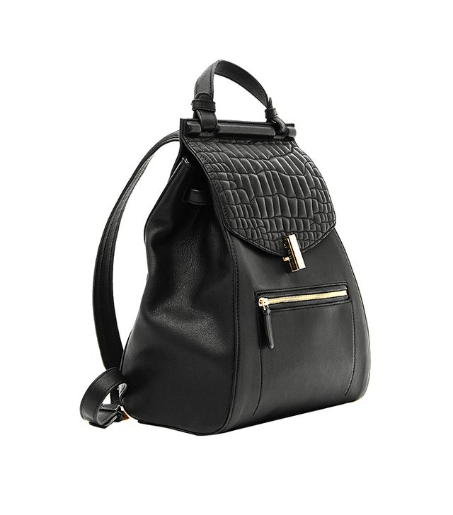 Reiss Alto Quilted Leather Rucksack