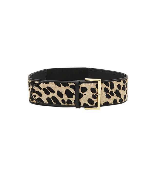 Reiss Lilah Print Calf Hair Belt