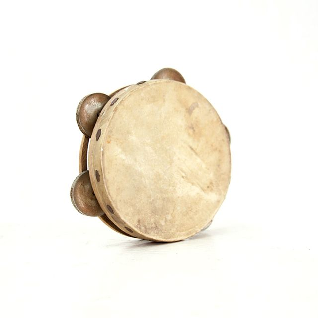 Etsy Small Vintage Tambourine
