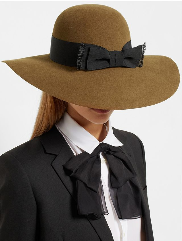 Saint Laurent Wide-Brim Rabbit-Felt Hat