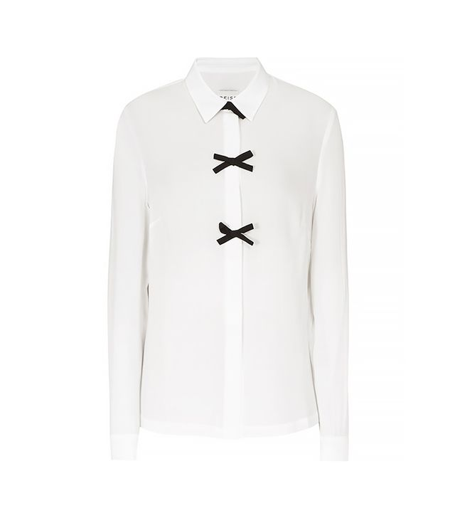 Reiss Bea Bow Embellished Shirt