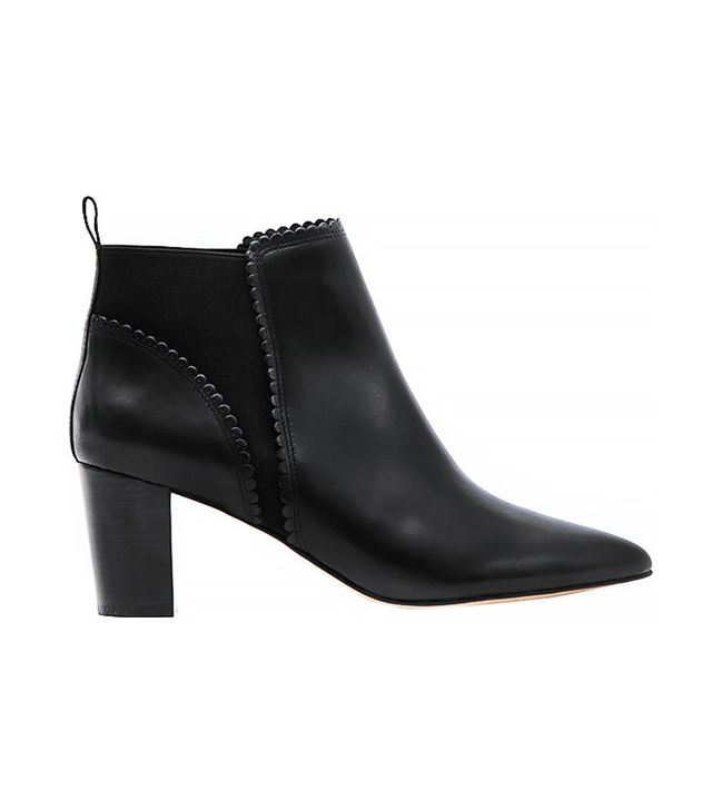 Reiss Blanche Scallop-Edge Ankle Boots