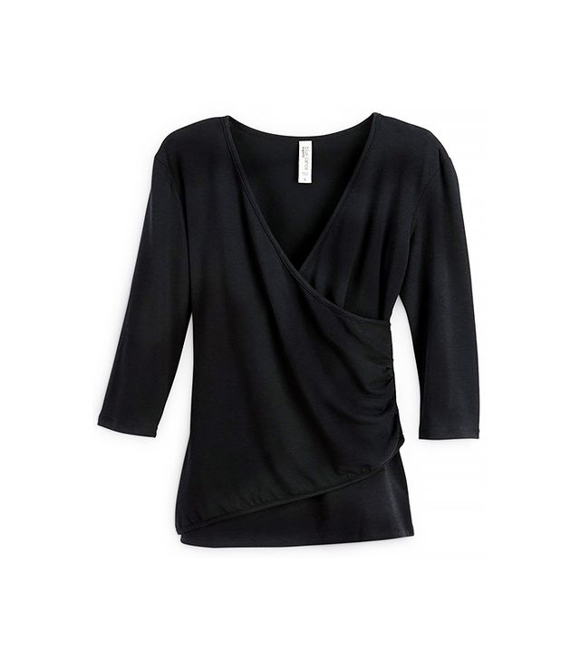 Rodale's 3/4 Sleeve Wrap Top