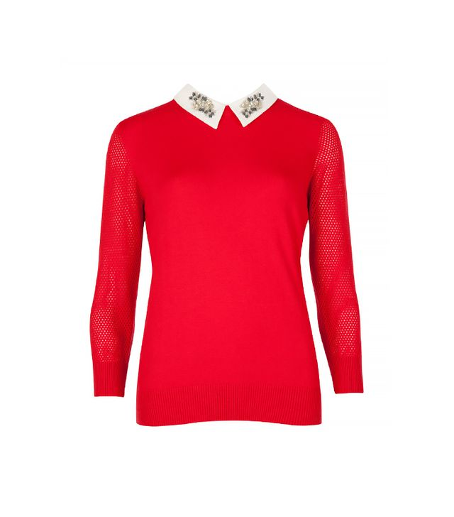 Ted Baker Helane Embellished Collar Sweater