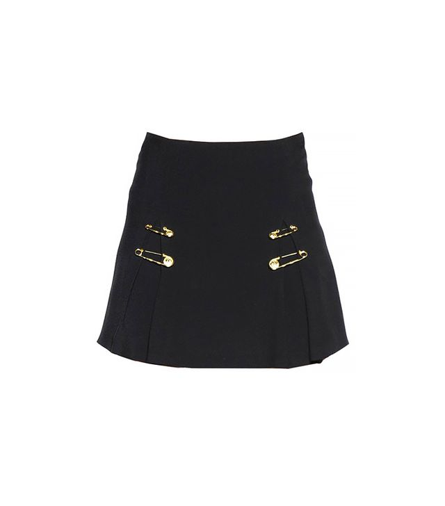 Versus Safety Pin Viscose Crepe Skirt
