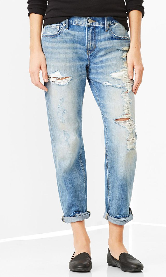 Gap 1969 Destroyed Sexy Boyfriend Jeans